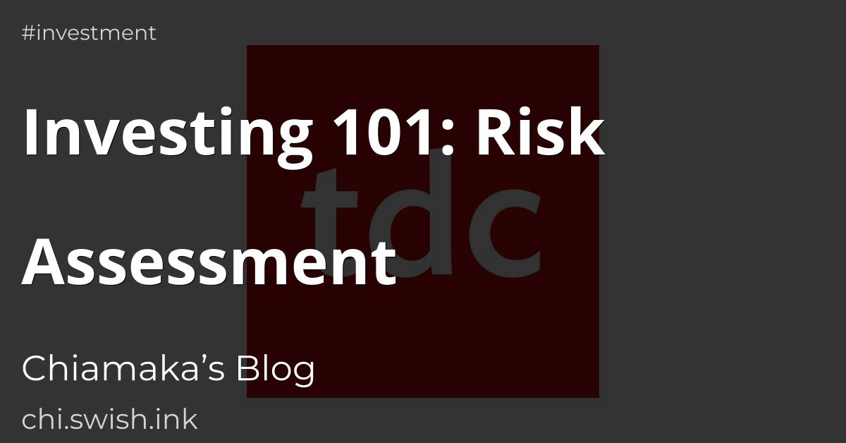 Investing 101: Risk Assessment